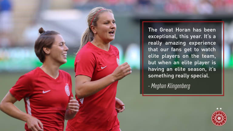 The case for Thorns FC's Lindsey Horan as the 2018 NWSL Most Valuable Player -