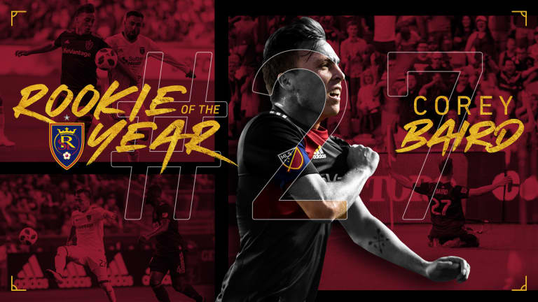 Real Salt Lake FW Corey Baird Named 2018 AT&T MLS Rookie of the Year -