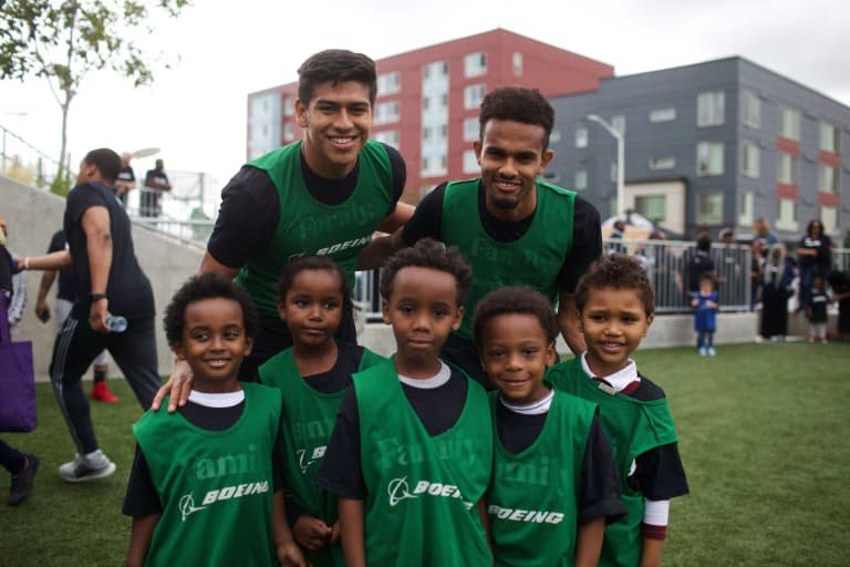 Seattle Sounders hold event at Yesler Terrace Park to celebrate strengthening ties to local community -