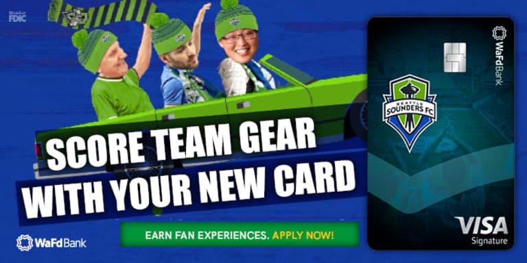 WaFd Bank Sounders Rewards Credit Card