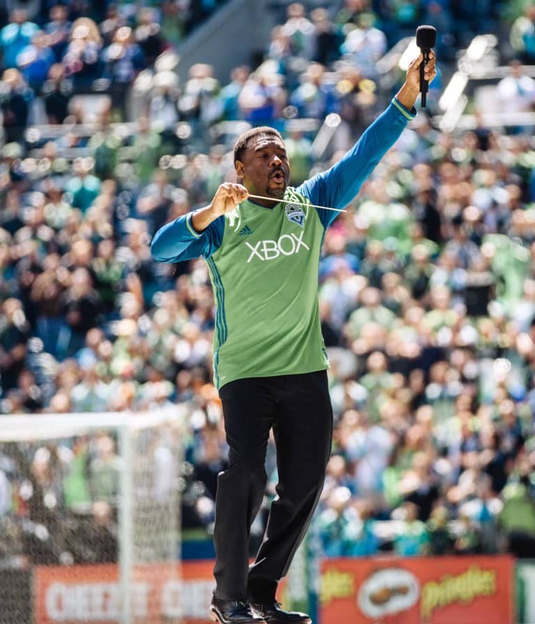 Dr. Stephen Newby to receive Golden Scarf at Sunday's match vs Houston, step down from full-time matchday anthem performance -