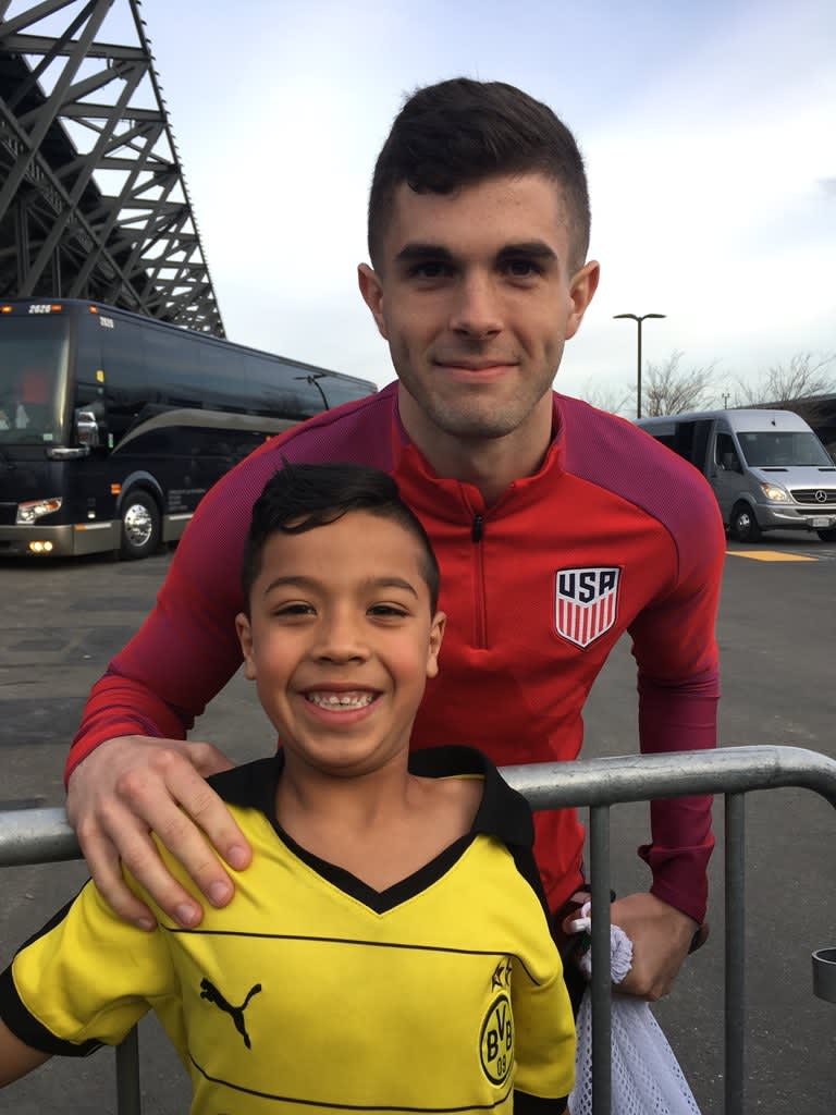FEATURE: Quakes superfan Alex Ibarra auctioning off autographed Christian Pulisic jersey for Puerto Rico relief -