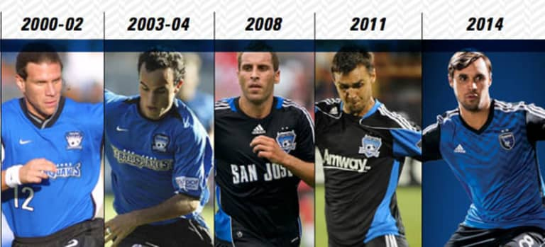 40 in 40: Jerseys from Earthquakes' past -