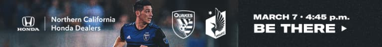 NEWS: Earthquakes announce concessions discount for Saturday's match -