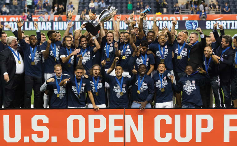 Sporting KC Brand History - 2015 US Open Cup Champions