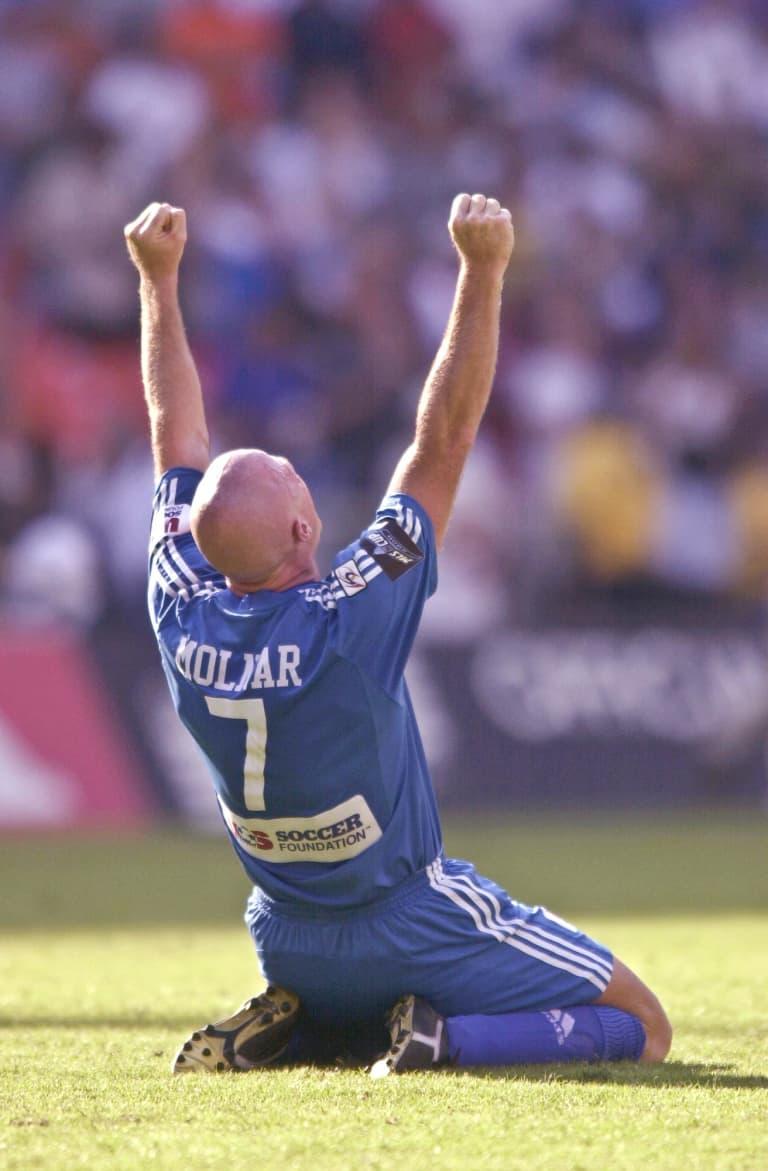 Sporting KC Brand History - Miklos Molnar Celebrates 2000 MLS Cup
