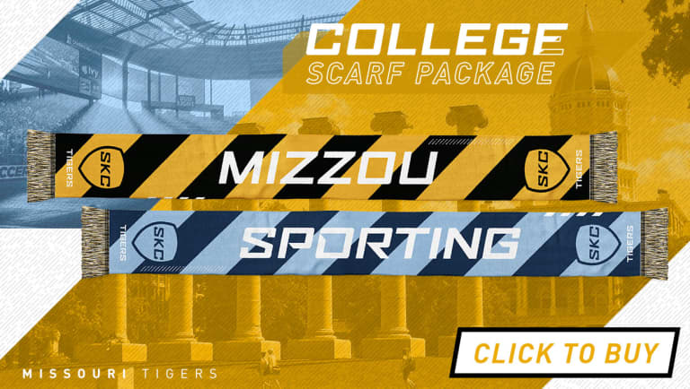 College scarf package highlights #SKCvMTL on March 30 at Children's Mercy Park -