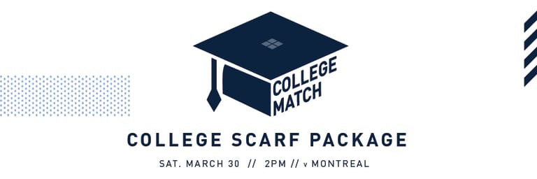 College scarf package highlights #SKCvMTL on March 30 at Children's Mercy Park - http://sportingcreative.com/img/2019/College/CollegeScarfPackage_Header.jpg