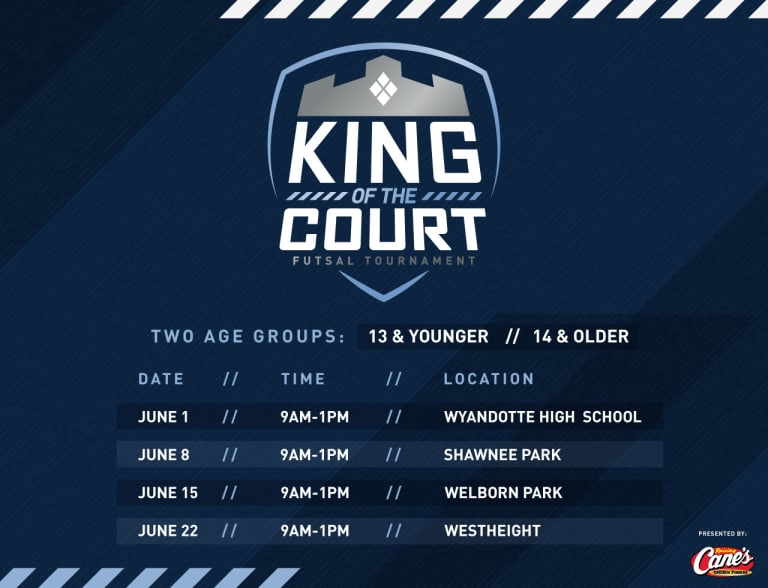 Sporting KC to host King of the Court Futsal Tournaments throughout June -