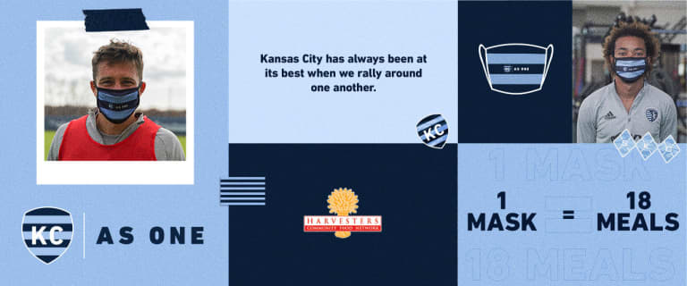 """Sporting launches """"KC As One"""" mask campaign to support Harvesters - The Community Food Network -"""