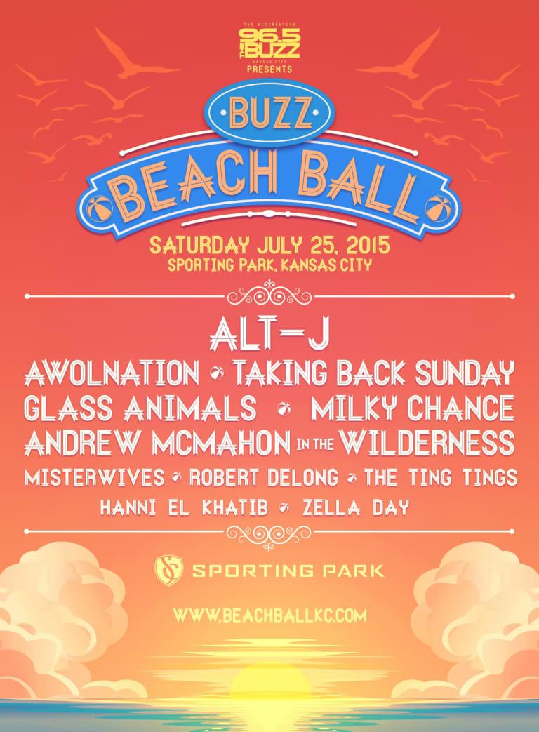 2015 Buzz Beach Ball roster announced -