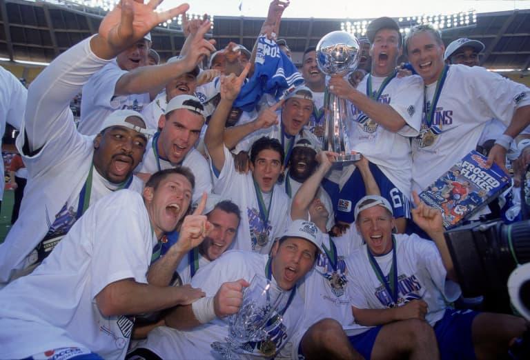 Sporting KC Brand History - 2000 Kansas City Wizards team trophy photo