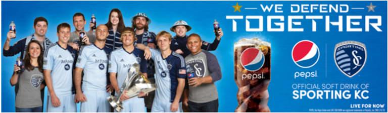 New Pepsi billboards on display in KC featuring Matt Besler and Graham Zusi -