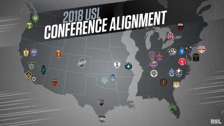 USL Reveals 2018 Conference Alignment -