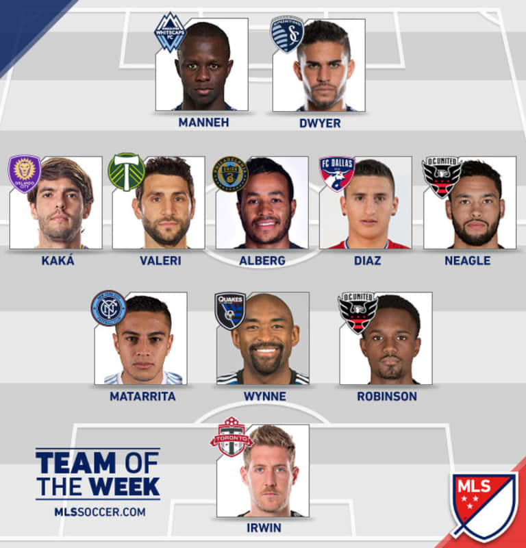 Manneh nominated for MLS Goal of the Week, named to MLS Team of the Week -
