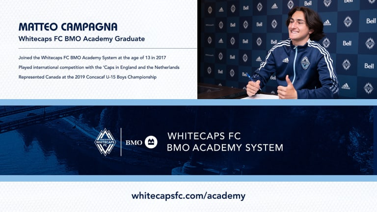 Whitecaps FC sign Matteo Campagna to MLS Homegrown contract -