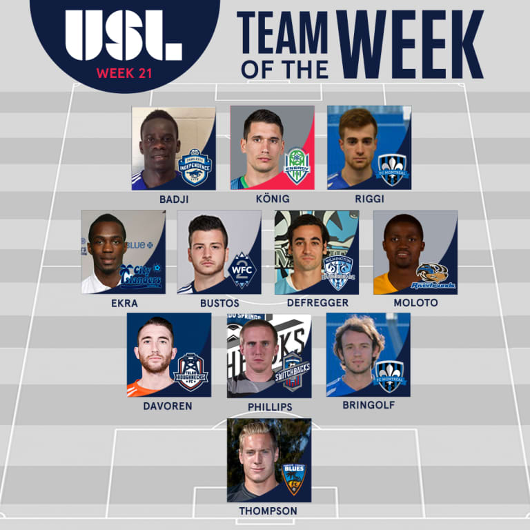 Marco Bustos named to USL Team of the Week for second straight week -