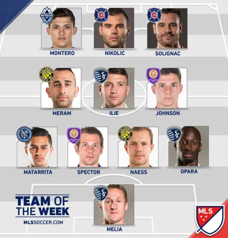 Written in the stars: Montero named to MLS Team of the Week after sinking former club -