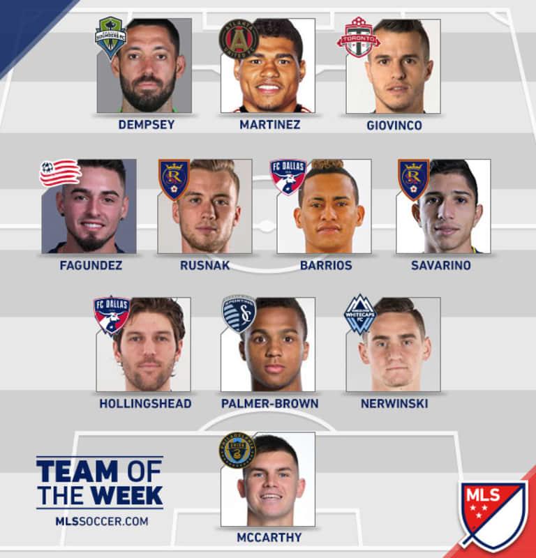 Rookie Jake Nerwinski earns first MLS Team of the Week selection -