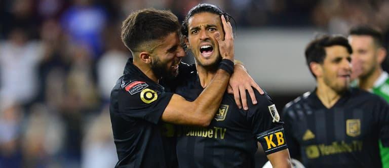 Carlos Vela - Diego Rossi - LAFC - celebration
