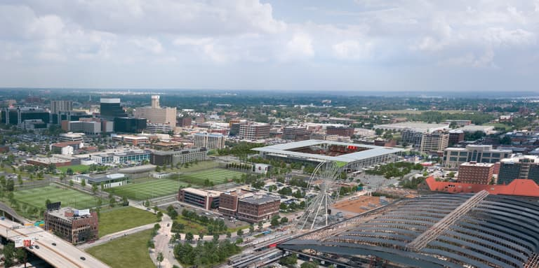 "St. Louis CITY SC crafting ""extremely unique"" downtown ""campus"" in construction of new stadium - https://league-mp7static.mlsdigital.net/images/stlCITYsc_CampusOverview.jpg?8TXZAWFsEw_9RBD3HDNGyPdBkCyj3HmD"