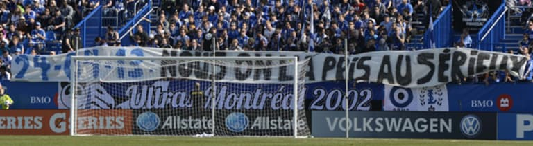 Montreal Impact fans make clear their dissatisfaction with Amway Canadian Championship loss in Toronto -