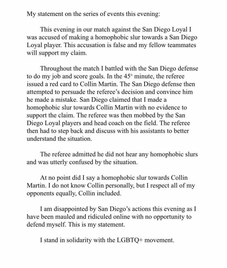 Landon Donovan's San Diego Loyal walk off field after alleged homophobic slur directed at Collin Martin; USL investigating - https://league-mp7static.mlsdigital.net/images/Flemmings.jpeg