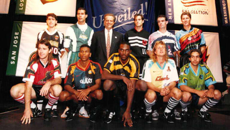 MLS 1996 jersey unveil event