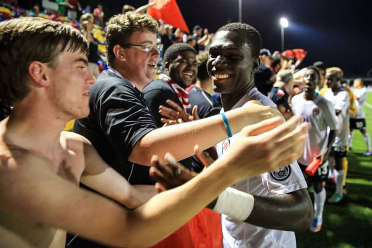 How Kwadwo Poku went from complete unknown to New York City FC star | THE WORD - https://league-mp7static.mlsdigital.net/images/Poku-with-Atlanta-fans.jpg