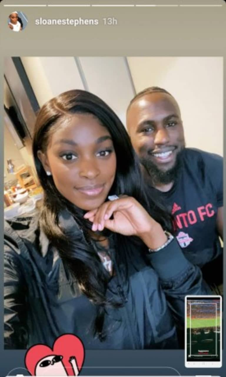 """Sloane Stephens: Jozy Altidore and Toronto FC's """"lady luck"""" in Atlanta? - https://league-mp7static.mlsdigital.net/styles/image_landscape/s3/images/Sloane%20and%20Jozy%20@%20MBS.jpg"""