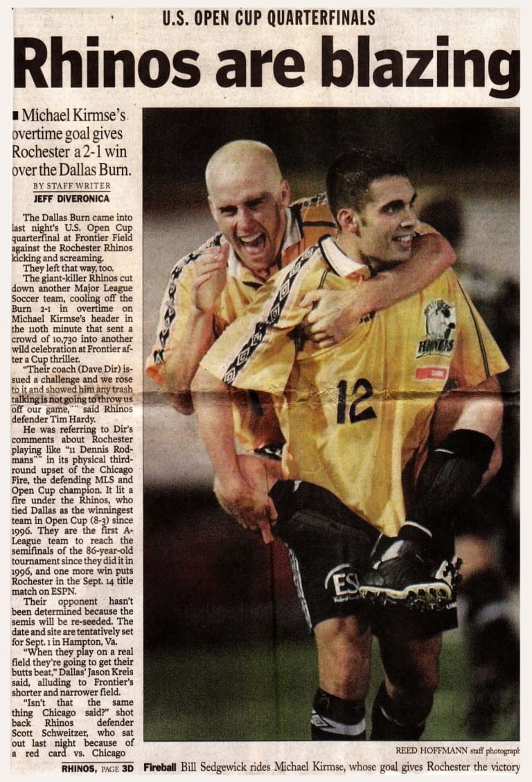 The legend of the Rochester Raging Rhinos, last underdog to win US Open Cup -