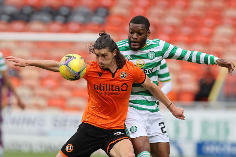 Ian Harkes controls ball vs. Celtic