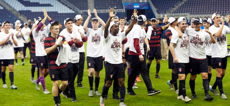 SuperDraft: College coaches continue behind-the-scenes push for dramatic NCAA soccer reforms - Stanford NCAA Championship Celebration