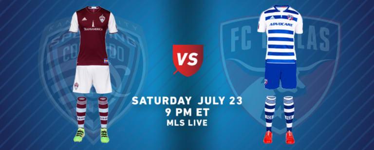 MLS team kits: Week 20 (July 22-24, 2016) - https://league-mp7static.mlsdigital.net/images/2016-07-23-COL-DAL-KITS.jpg