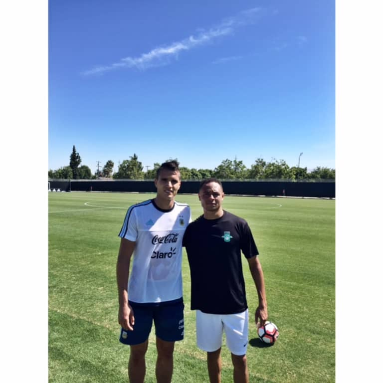 Burlingame Dragons FC, the San Jose Earthquakes' PDL side, beats Argentina - https://league-mp7static.mlsdigital.net/images/coxandlamela.jpeg?null