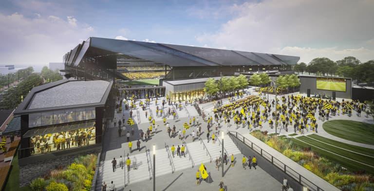 Columbus Crew reveal new stadium updates and share plans for intimidating and unique venue - https://league-mp7static.mlsdigital.net/images/CrewStadiumPlaza.jpg?cS.gwYjzm6oPIFQEimEzKjF3Ppj.Imun