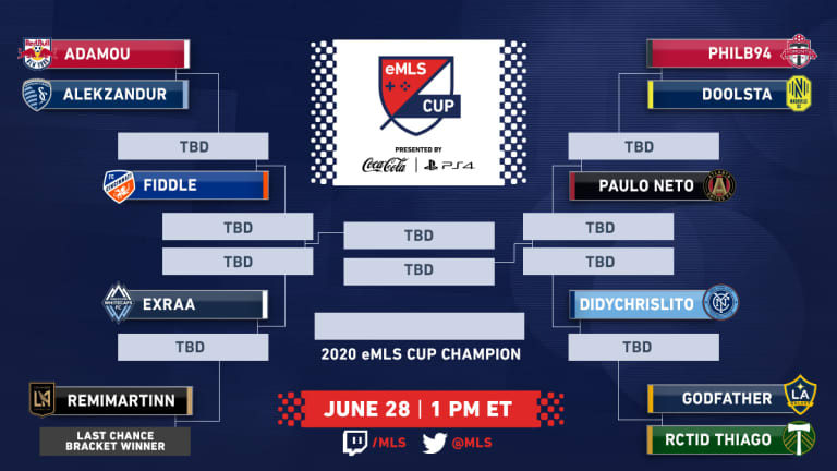 eMLS Cup 2020 presented by Coca-Cola and PlayStation rescheduled for June 28 -