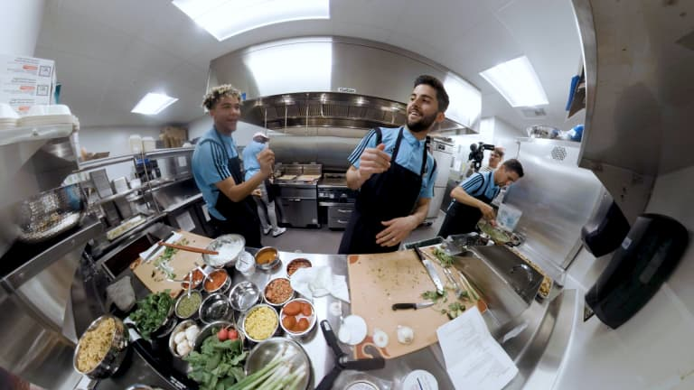 Minnesota United players go full Top Chef   By The Way pres. by Heineken - https://league-mp7static.mlsdigital.net/images/DayneAndEthanInKitchen.jpg