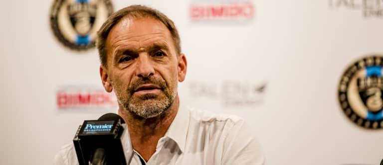 Philadelphia Union sporting director Ernst Tanner at end-of-season press conference —November 19, 2018