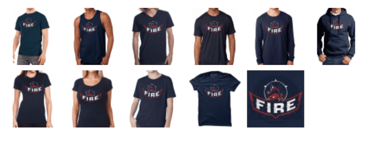 Pick up a vintage Fire Tshirt and support the Chicago Fire Foundation! -