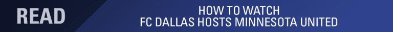 LINEUP NOTES, pres. by UnitedHealthCare: FC Dallas vs Minnesota United | 8.10.19 -