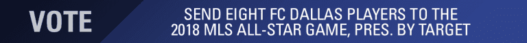 Eight FC Dallas Players Named to 2018 MLS All-Star Game Fan Ballot -
