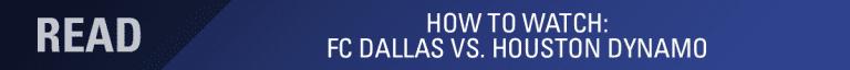 LINEUP NOTES: FC Dallas vs. Houston Dynamo | 9.1.18 -
