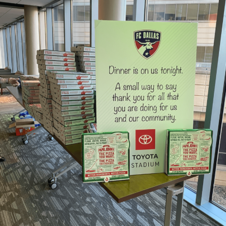 Taking Care of Those Taking Care of Our Community in Partnership with Toyota: Pizza to Texas Health Presbyterian Hospital Plano -