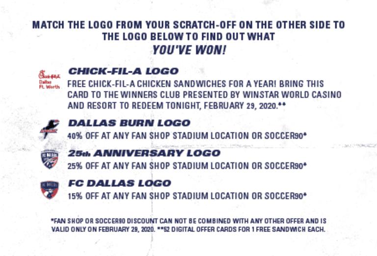 FC Dallas Season Opener Information  -