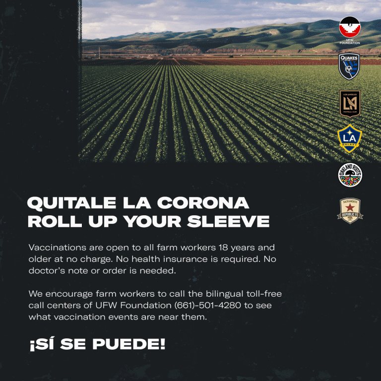 LAFC Partners With The San Jose Earthquakes, Galaxy, Oakland Roots SC, & Sacramento Republic FC To Support California Farm Workers On Cesar Chavez Day -
