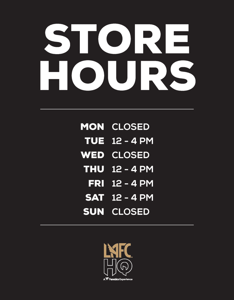 HQ Store Hours