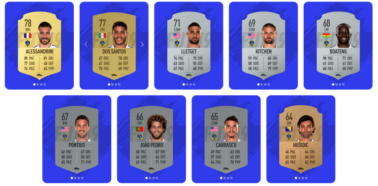 REVEALED: The complete LA Galaxy ratings for FIFA 19 -