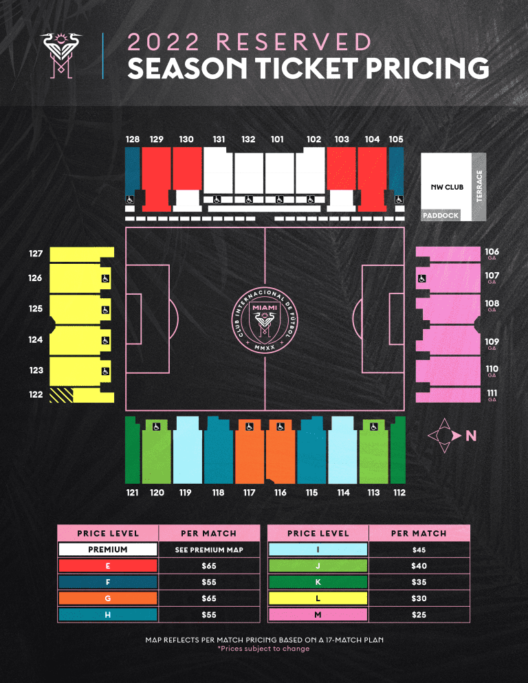 reserved ticket pricing