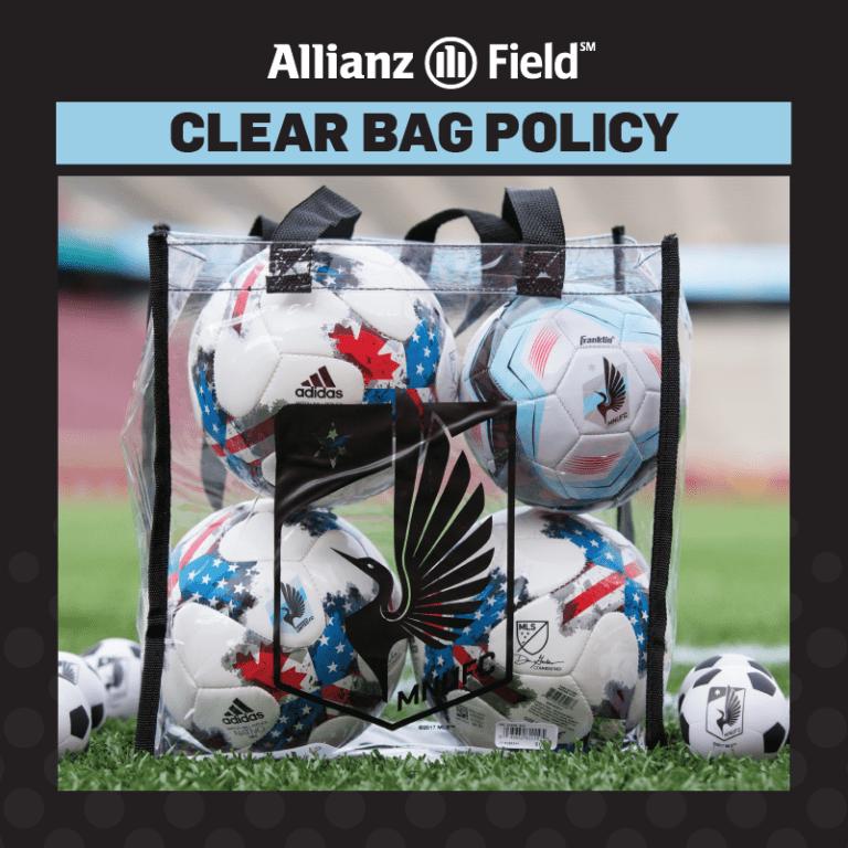 Game Guide: MNUFC vs. D.C. United - CLEAR BAG